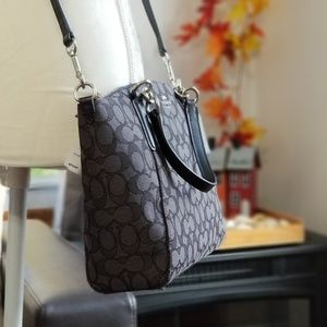 NEW! Coach Signature Small Kelsey in Black Smoke